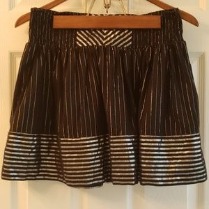 Candie's Black & Silver Striped Skirt